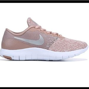 Nike Flex Contact White/Metallic Silver Women's